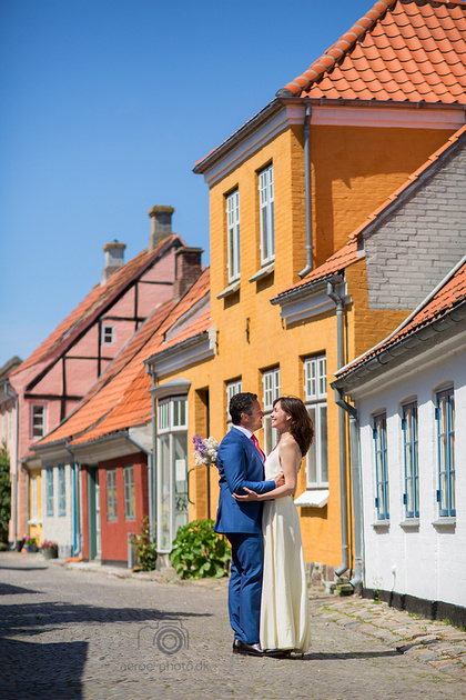 Sunny day in the streets on Ærø