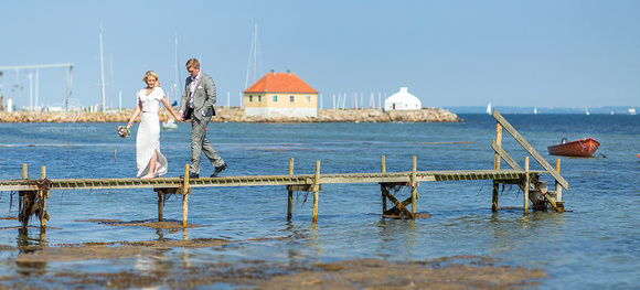 Perfect day for a walk with a wedding couple on the island Ærø.