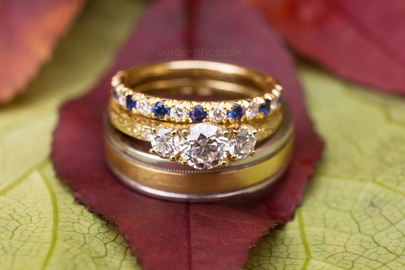 Some beautiful rings and some nice autumn leafs.