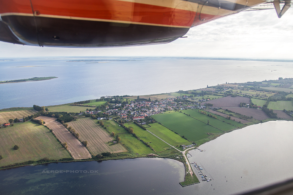 Getting married in the air on the island Aeroe